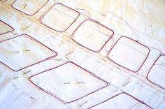 Maryandpatch, reverse appliqué quilt