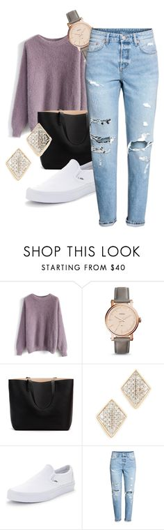 """""""Sans titre #268"""" by mlou-douillet ❤ liked on Polyvore featuring Chicwish, FOSSIL, Adina Reyter, Vans and H&M"""