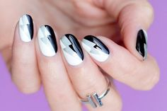 Graphic Black and White Nail Art – Tutorial
