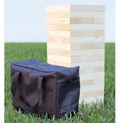 One of the Largest GIANT Tumbling Tower Jenga Style Games out there, this game set includes 54 solid pine wood game pieces, providing 18 vertical rows of tumbling tower fun and excitement. This giant
