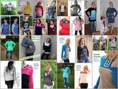 Oberteil, Kleid nähen 34-48 I Mamahoch2: Freebook Lady Rockers