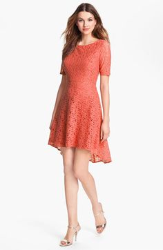 Betsey Johnson Lace Fit & Flare Dress available at Nordstrom  - I like this, but maybe a different color?