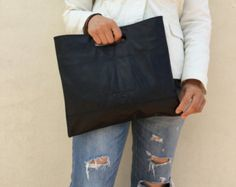 Custom order Nappa Soft leather for Martine Black clutch Everyday clutch Large clutch