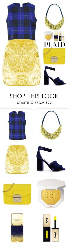 """""""Plaid"""" by gicreazioni ❤ liked on Polyvore featuring Department 5, Joie, Furla, Michael Kors and Yves Saint Laurent"""
