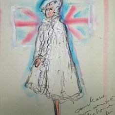 Karl Lagerfeld's illustration of the Queen
