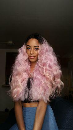 pink hair, pastel hair, pastel pink, colorful hair, colored hair, black womens hair inspiration