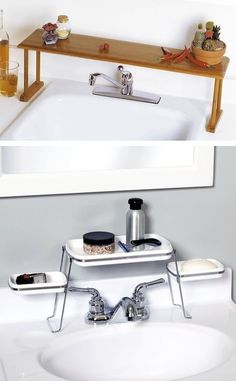 Comment gagner de l'espace au-dessus de l'évier ou du lavabo ?