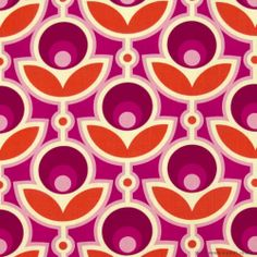 Joel Dewberry Notting Hill Primrose Magenta from Designed by Joel Dewberry for FreeSpirit, this fabric features a retro floral motif. Perfect for quilting, apparel and home decor accents. Colors include cream, magenta, oink and tangerine. Motifs Textiles, Textile Patterns, Textile Design, Fabric Design, Floral Patterns, Floral Motif, Motif Vintage, Vintage Patterns, Surface Design