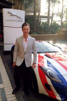 Ben with Jaguar  #Benedict Cumberbatch