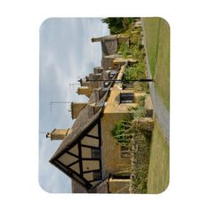 Cottages in Broadway, Cotswolds rectangle magnet