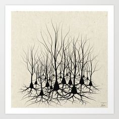 Pyramidal Neuron Forest Art Print by science fried art - $17.00
