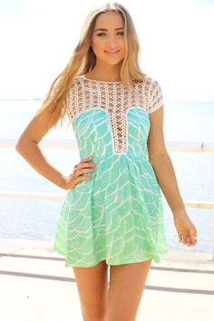 Mermaid Print Dress