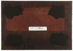 Antoni Tapies - Pasted Cloth 1976