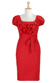 #Red #Bridesmaids #Dress, #eShakti