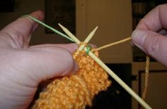 Weaving in ends while knitting, for the Continental knitter.  (have done this and it saves buckets of time!)