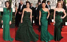 CELEBRITIES #redcarpet #emerald #green gowns