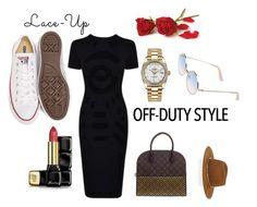 """""""Off Duty Style"""" by brendeliah on Polyvore featuring McQ by Alexander McQueen, Converse, Rolex, Guerlain, Sunday Somewhere, Louis Vuitton and Janessa Leone"""