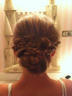 Flower girl hair I created for Jessica McDonald's wedding!