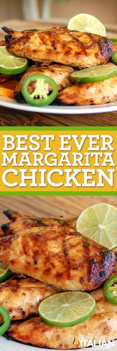 the fantastic flavor of tequila cooked into the chicken with subtle hints of sweetness from the agave and a little kick from the jalapeno. Tequila, lime and orange all come together to create the best ever Margarita Chicken. Turkey Recipes, Mexican Food Recipes, Chicken Recipes, Dinner Recipes, Ark Recipes, Hamburger Recipes, Beef Recipes, Grilling Recipes, Cooking Recipes