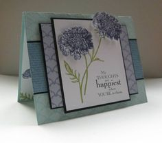 SC341 Field Flowers by nancy littrell - Cards and Paper Crafts at Splitcoaststampers