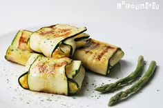 "Zucchini ""ravioli"" - a nice low carb alternative and it looks delish!"