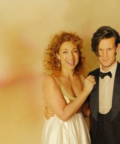 River Song and the Eleventh Doctor-- Alex Kingston and Matt Smith-- I just love this of those 2!