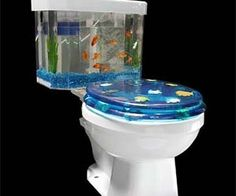 Feel like mighty Poseidon on his throne when you sit on the fishbowl toilet. Forget about reading, now you can awe at the marine community living in your...
