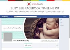BUSY BEE Facebook Timeline and Custom Tab image PSD Template for Photographers. $8.00, via Etsy.