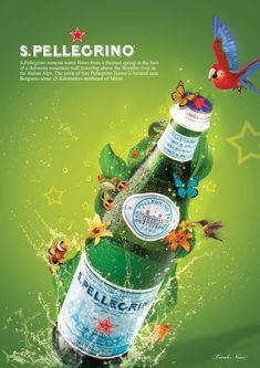 San Pellegrino always on our table. Ads Creative, Creative Advertising, Pocket Coffee, All About Italy, Water Poster, Water Branding, San Pellegrino, Magazine Ads, Mother Earth