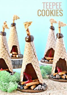No need to pack your sleeping bag, you can still feel like you are camping with these allergen-friendly TeePee Cookies.