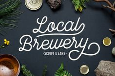 Local Brewery is a vintage inspired font duo that includes one script and one sans serif font. The script and sans serif are both hand-drawn with a rough edge. Local Brewery Script comes Great Fonts, Cool Fonts, New Fonts, Awesome Fonts, Design Typography, Typography Fonts, Hand Lettering, Texture Web, Font Shop