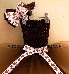 Brown Gingerbread Princess Tutu Dress