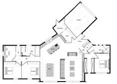 """Photo """"Plan intérieur - proposition modification côté enf (...)"""" 130M²"""