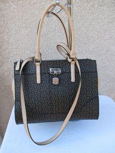 32ba72b9d5 Guess Tote Color Natural Style GG606224 Group Harbor Springs Purse Bag  Handbag