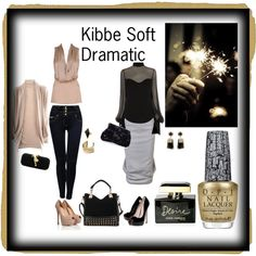 """Kibbe Soft Dramatic"" by papillonnoir1 on Polyvore"