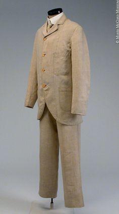 Suit ca. 1885-1900 via The McCord Museum