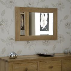 90cm x 60cm Solid Oak Mirror