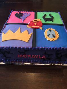 Descendants birthday cake by Suzy Q's Cakery