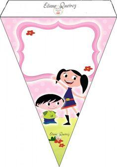 Bandeirinha Varalzinho Show da Luna para Meninas