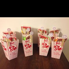 Baseball birthday party favors! I copied the tags that where featured on tipjunkie.com ( there is a link) they say I had a ball thanks for coming!