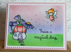 "There's a Card for That: Fairy Happy Birthday | Lawn Fawn ""Fairy Friends"""