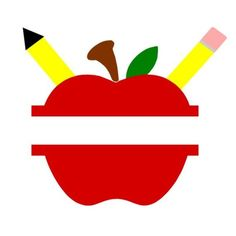 Split Apple with Pencils svg Split Apple svg Back to School svg School tshirt svg Back to school Monogram Classroom Decor svg Teacher svg SVG – Split Apple with Pencils – DXF – Back to School – Back to School Tshirt – Back to school Monog