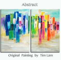Painted by Tim Lam. Tim is an internationally renowned artist from Hong Kong, who was a designer, major Fine Art (BA, Hon) in college. Later a full time artist, has sold thousands artwork worldwide.  This is an original acrylic painting, one-of-a-kind, 100% hand painted on canvas. Thick paints, free brushwork, expressionist impasto style, but still maintaining the vivid and accurate image of the object. Colors are bright, full of layers, glow as the focal point of a room. It looks peaceful…