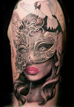Realism Mask Tattoo by Ellen Westholm | Tattoo No. 11146