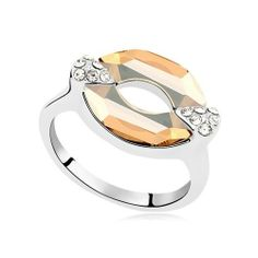 Exquisite Shine Jewellery Ring by Swarovski Elements - Kiss - Blue Products- - TopBuy.com.au