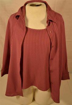 Beautiful Joanna Petite Size PXL 2 Layer 3/4 Sleeve Polyester Dress Blouse
