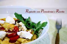 Tra dolce ed amaro: Feiertagspasta: Reginette con pomodorini, rughetta...