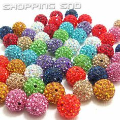 30pcs - 10mm Czech Crystal Clay Disco Balls Beads  Our Disco Ball Are - Premium Quality!