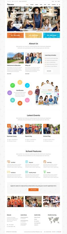Educator is clean and modern design 9in1 responsive #WordPress theme for #elementary #school, colleges, universities, online classes website with Learning Management System download now..