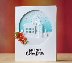Snowy Holiday Scene by Laura Bassen for the Simon Says Stamp Blog using Simon Says Stamp Exclusives.